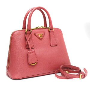 [Used] PRADA Prada Saffiano 2WAY Handbag Shoulder Bag Ladies TAMARIS Pink Stamped Leather BL0838