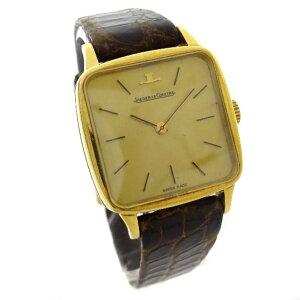 [二手货] JAEGER-LECOULTRE积家方形表壳复古手表女士手动上链金棕色