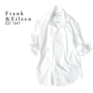 Frank&Eileen フランク&アイリーン DON ドン ブラッシュドコットン プレーンシャツ 9920700014 白 長袖シャツ (メンズ)