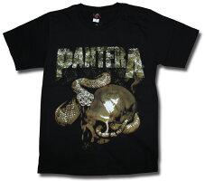 パンテラTシャツ(PANTERA)ヘヴィメタル/ヘビメタ/ロックTシャツ/バンドTシャツ/スカル&スネーク【メール便160円】