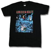 グリーン Tシャツ グリーンデイ ハードコア・パンク レディース ファッション