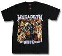 MEGADETH メガデス Tシャツ ロックTシャツ バンドTシャツ メンズ/レディース/Rock/rock/band T-SHIRTS/ファッション/半袖/メタルTシャツ/ヘヴィメタル/スラッシュメタル/マーティ・フリードマン