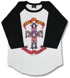 ガンズ・アンド・ローゼズ ラグラン Tシャツ プリント メンズ・レディース・キッズ ファッション バーゲン