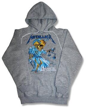 Metallica メタリカ パーカー METALLICA バンド パーカー【rock】メンズ/レディース/キッズ/ユニセックス プルオーバー/ロック/ファッション/メンズ/レディース/ヘヴィメタル/ヘビメタ グレー GRAY【バーゲン】【売れ筋】