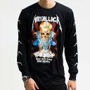 メタリカ Metallica ロンT ロングTシャツ 長袖 ロックTシャツ バンド Tシャツ ロック ファッション ROCK BAND T-SHIRTS ヘヴィメタルTシャツ メンズ レディース ユニセックス 売れ筋 バーゲン スカル