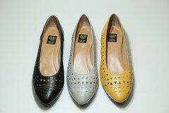 送料無料ゴールデンフット婦人靴5061パンチングパンプス