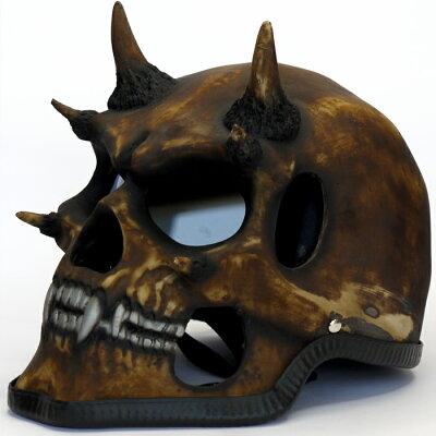 スカルヘルメット「ミュータント」 本物を追求する[Night Rider]ナイトライダー公式ライセンス商品![ハーレーダビッドソン][harley davidson][アメリカン][チョッパー][スペシャル][skull][ゴーストライダー][ドクロ][髑髏]