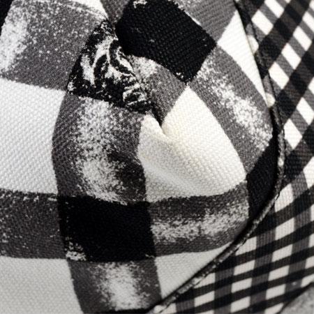 シャネルCHANELハンドバッグギンガムチェックホワイト×ブラックレディース2011年クルーズラインA49918【中古】