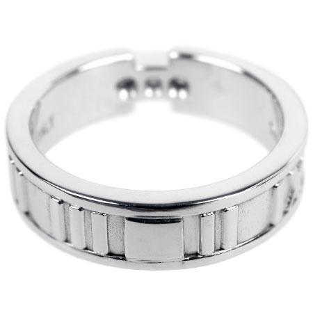 ティファニーTIFFANY&Co.アトラス3PダイヤモンドリングK18WG8.0g日本サイズ14号ラウンド指輪【中古】