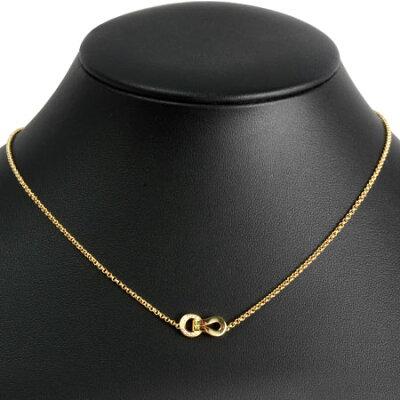 カルティエCartierアグラフダイヤモンドネックレスK18PG(750PG)ピンクゴールド程度AB【】