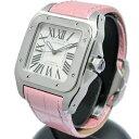 カルティエ Cartier オートマチック腕時計 サントス100 MM W20126X8 パールピン ...