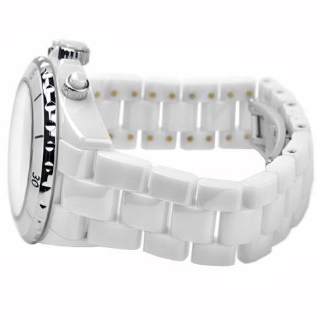 シャネルCHANELJ12自動巻き腕時計クロノグラフセラミックホワイト文字盤41mmH1007メンズ6ヶ月動作保証付代引きでのカード払い不可【中古】