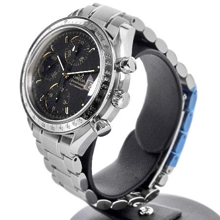 オメガOMEGAスピードマスターデイト日本限定3513.54SS腕時計自動巻きブラック文字盤メンズクロノグラフ【中古】