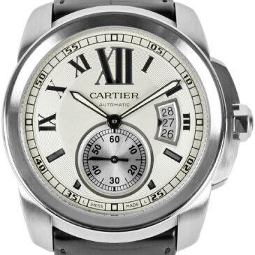カルティエ Cartier カリブル ドゥ カルティエ シースルーバック SS メンズ 時計 自動巻 シルバー文字盤 W7100037【中古】