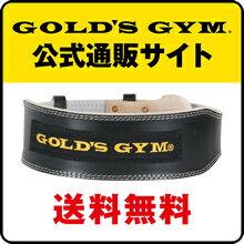 【公式】GOLD'S GYM(ゴールドジム)G3367 ブラックレザーベルト XSサイズ