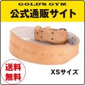 GOLD'S GYM(ゴールドジム)アンティークレザーベルト(パット付) G3323 XSサイズ
