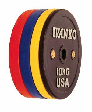 【Φ50mm高品質バーベルプレート】IVANKO(イヴァンコ社製競技用プレートラバーウェイトリフティングオリンピックプレート25kg OCB-25