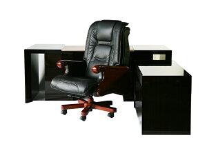 送料無料■新品■黒檀プレジデントデスク  オフィスデスク エグゼクティブデスク 両袖デスク CEOチェア プレジデントチェア エグゼクティブチェア 本革 デスクマット ■