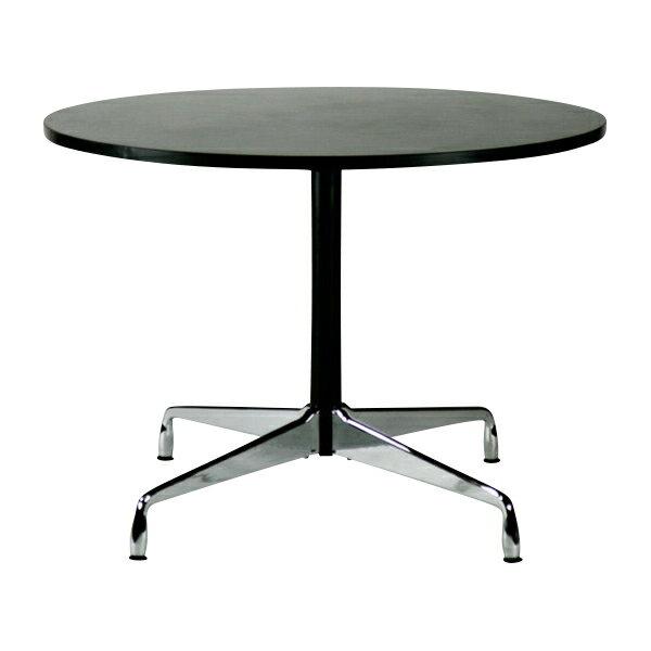 送料無料 新品 イームズ コントラクトテーブル 丸テーブル アルミナムテーブル ラウンドテーブル 直径100 cm 高さ74cm ブラック ectr10-70l-bk