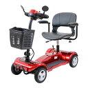 送料無料 電動シニアカート 赤 電動カート シルバーカー サイドミラー 車椅子 PSE適合 TAISコード取得済 運転免許不要 電動車いす 電動車椅子 介護 福