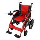 送料無料 新品 電動車椅子 赤 折りたたみ 車椅子 PSE適合 TAISコード取得済 コンパクト ノーパンクタイヤ 電動 手動 充電 電動ユニット 電動アシスト