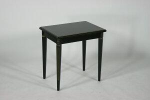 送料無料■新品■ブラックロココサイドテーブル花台■F6101BG-Lブラック
