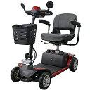 送料無料 電動シニアカート 赤 電動カート シルバーカー サイドミラー 車椅子 TAISコード取得済 ...