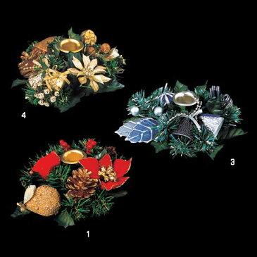 クリスマス 装飾 キャンドルホルダー 16cm キャンドルホルダー リース風