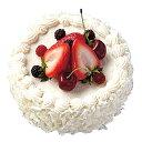 ケーキ装飾食品サンプル150mmホワイトチョコフルーツケーキ