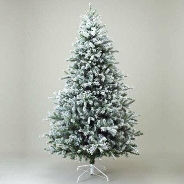 クリスマスツリー 雪バージョン240cm 防炎240cmニュースノーパインツリーx1560cm ※代引不可商品