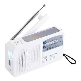 ダイナモ・エマージェンシー・ライト(DSR-50)10個セット販売 ダイナモとソーラー充電と乾電池の3電源と4機能を持った防災用ライトです。(iPhoneはご自身のライトニングケーブルを使用して充電可能です)