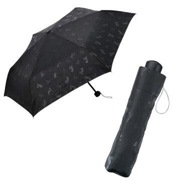 日傘 晴雨兼用 ミッキー柄がひっそり みんなのキャラクター シルエットリボン晴雨兼用折りたたみ傘 60本セット販売