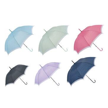 傘 レディース 長傘 ピンドットジャンプ傘 ベーシックなドット柄はシンプルかつ上品なデザイン 60本セット販売