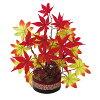 秋の装飾ディスプレイ紅葉ポット28×26cm