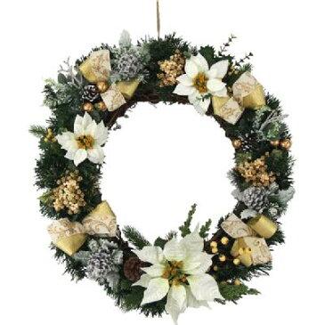 クリスマス リース 50cm エダリースゴールドナチュラル 天然素材
