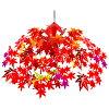秋の装飾ディスプレイ紅葉もみじ唐紅のおさんぽ道ドロップ52×55cm