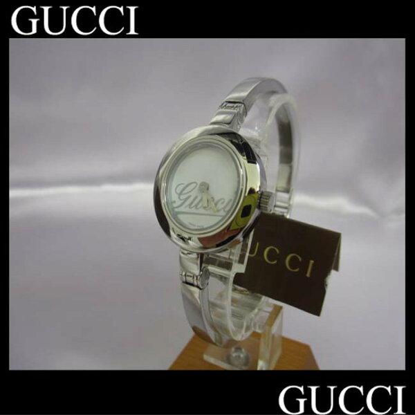 【】【グッチ】腕時計クォーツグランデYA105バングルha