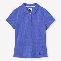 FJ(Footjoy)Ladiesフットジョイレディースドットプリントカノコシャツ