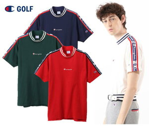 Champion GOLFC3-RG314チャンピオンゴルフ メンズモックネックシャツ