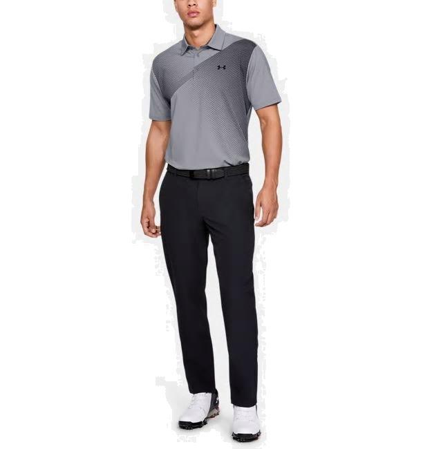 【日本で売ってないデザイン】2019USアンダーアーマー  半袖ポロシャツ UA Playoff Polo 2.0 1327037-035Steel / Jet Gray