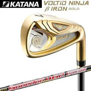 Katana Golf KATANA GOLF Мужской гольф-клуб VOLTIO NINJA IRON GOLD Balti Ninja Beta Gold Iron Набор из 5 (# 6-PW) спидеров 462 вала