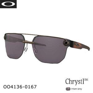 (クリアランス)Oakley オークリー クリスタルTM メンズ プリズムグレー かっこいい クール スタイリッシュ 偏光レンズ UVカット サングラス OO4136-0167 あす楽