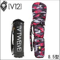ヴィトゥエルヴV12メンズゴルフキャディバッグP/BLACKCAMOピンクブラックカモ8.5号着せ替えキャディバッグ(カバー+本体)V121721-CV13L