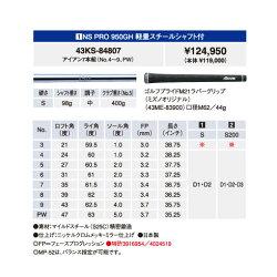MP軟鉄鍛造アイアンMP-527本セットNSPRO950GH軽量スチールシャフトM-43KS-84807【送料無料】