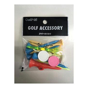 ゴルフ用品 ラウンド用品 ティーゴルフティーバラ 1円ウッドティー プラティーライト(LITE)バラエティセット
