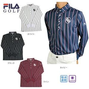 【30%OFF】ゴルフウェア メンズ 長袖ポロシャツ 大きいサイズ フィラゴルフ 789505  吸水速乾 UVケア ゴルフシャツ FILA GOLF