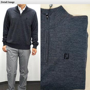 フットジョイハーフジップラインセーター