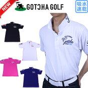 【新作】GOTCHAGOLFガッチャゴルフ182GG1200メンズ半袖ポロシャツ吸水速乾ゴルフウェア