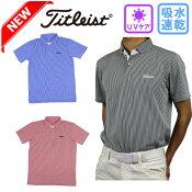 新作タイトリストTitleistストライプジャカードシャツTSMC1806ゴルフウェアメンズゴルフ半袖ゴルフシャツ