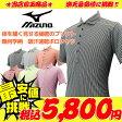 【選べる8色】 ミズノ 体を細く見せる秘密のプリント 幾何学柄 吸汗速乾ポロシャツ Mizunoゴルフ